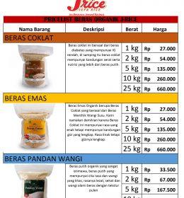 harga beras organik